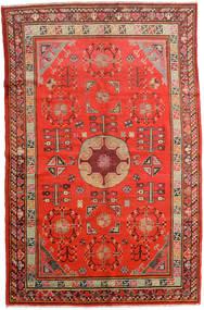 Samarkand Vintage Teppich 161X250 Echter Orientalischer Handgeknüpfter Rost/Rot/Dunkelrot (Wolle, China)