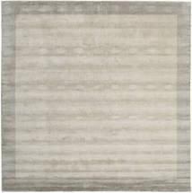 Handloom Frame - Greige Teppich  300X300 Moderner Quadratisch Hellgrau Großer (Wolle, Indien)