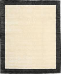 Handloom Frame - Schwarz/Weiß Teppich  250X300 Moderner Beige/Dunkelgrau/Gelb Großer (Wolle, Indien)