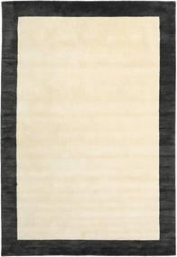 Handloom Frame - Schwarz/Weiß Teppich 200X300 Moderner Beige/Dunkelgrau (Wolle, Indien)