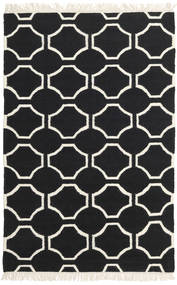 London - Schwarz/Naturweiß Teppich  160X230 Echter Moderner Handgewebter Schwartz/Beige (Wolle, Indien)