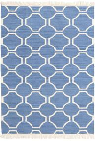 London - Blau/Naturweiß Teppich  160X230 Echter Moderner Handgewebter Blau/Beige (Wolle, Indien)