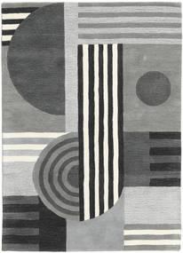 Tilt - Grau Teppich  160X230 Moderner Hellgrau/Dunkelgrün (Wolle, Indien)