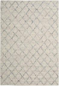 Rut - Silber/Grau Melange Teppich  200X300 Echter Moderner Handgewebter Hellgrau/Dunkel Beige (Wolle, Indien)