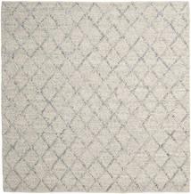 Rut - Silber/Grau Melange Teppich  250X250 Echter Moderner Handgewebter Quadratisch Hellgrau/Dunkel Beige Großer (Wolle, Indien)
