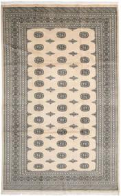 Pakistan Buchara 2Ply Teppich  200X326 Echter Orientalischer Handgeknüpfter Beige/Dunkelgrau/Hellgrau (Wolle, Pakistan)