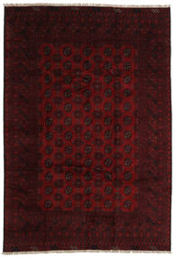 Afghan Teppich 196X289 Echter Orientalischer Handgeknüpfter Dunkelbraun/Dunkelrot (Wolle, Afghanistan)