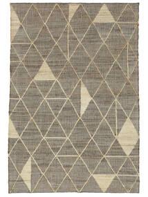 Outdoor-Teppich Berber Jute Teppich  160X230 Echter Moderner Handgewebter Hellgrau/Beige (Jute-Teppich Indien)