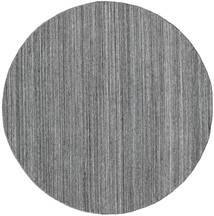 Outdoor-Teppich Petra - Dark_Mix Teppich  Ø 200 Echter Moderner Handgewebter Rund Hellgrau/Dunkelgrau/Blau ( Indien)