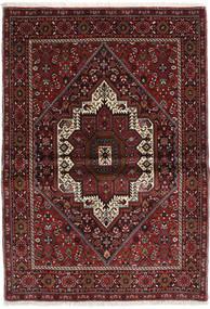 Gholtogh Teppich  103X146 Echter Orientalischer Handgeknüpfter Dunkelrot/Dunkelbraun (Wolle, Persien/Iran)