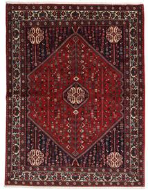 Abadeh Sherkat Farsh Teppich 155X204 Echter Orientalischer Handgeknüpfter Dunkelrot/Schwartz (Wolle, Persien/Iran)