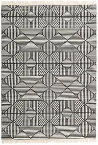 Mauri Teppich 140X200 Echter Moderner Handgewebter Dunkelgrau/Hellgrau/Dunkel Beige (Wolle, Indien)