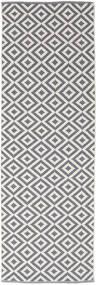 Torun - Grau/Neutral Teppich 80X300 Echter Moderner Handgewebter Läufer Hellgrau/Helllila (Baumwolle, Indien)