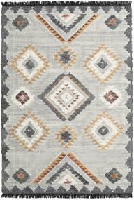 Dixie Teppich  200X300 Echter Moderner Handgewebter Hellgrau/Dunkel Beige (Wolle, Indien)