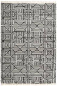 Mauri Teppich  200X300 Echter Moderner Handgewebter Dunkelgrau/Hellgrau (Wolle, Indien)