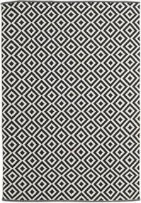Torun - Schwarz/Neutral Teppich  170X240 Echter Moderner Handgewebter Schwartz/Dunkel Beige (Baumwolle, Indien)