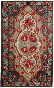 Kelim Rosen Moldavia Teppich  191X317 Echter Orientalischer Handgewebter Dunkelrot/Schwartz (Wolle, Moldawien)