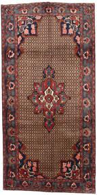 Koliai Teppich  145X287 Echter Orientalischer Handgeknüpfter Läufer Dunkelbraun/Dunkelrot (Wolle, Persien/Iran)