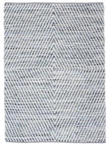Hilda - Denim/Weiß Teppich  140X200 Echter Moderner Handgewebter Beige/Hellblau (Baumwolle, Indien)