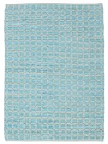 Elna - Bright_Blue Teppich 170X240 Echter Moderner Handgewebter Hellblau/Türkisblau (Baumwolle, Indien)
