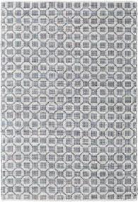 Elna - Grau Teppich  170X240 Echter Moderner Handgewebter Hellgrau/Hellblau (Baumwolle, Indien)