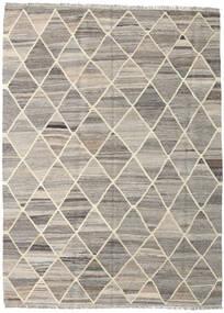 Kelim Ariana Teppich  153X208 Echter Moderner Handgewebter Hellgrau/Beige (Wolle, Afghanistan)