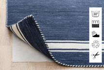 Anti Slip, Non-Woven Teppich 80X150 Moderner Blau/Hellgrau ( Belgien)