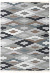 Zimba - Grau Teppich  160X230 Echter Moderner Handgewebter Hellgrau/Dunkelgrau (Wolle, Indien)