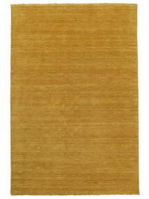 Handloom Fringes - Gelb Teppich 160X230 Moderner Orange/Hellbraun (Wolle, Indien)