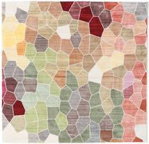 Play Of Colours Teppich  150X150 Moderner Quadratisch Hellgrau/Beige ( Türkei)
