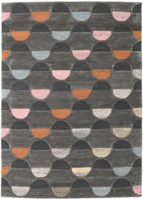 Candy - Grau/Multi Teppich  140X200 Moderner Dunkelgrau (Wolle, Indien)