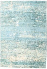 Damask Collection Teppich  193X282 Echter Moderner Handgeknüpfter Türkisblau/Hellblau ( Indien)