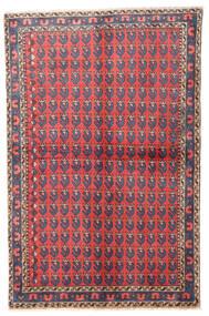 Wiss Teppich 100X155 Echter Orientalischer Handgeknüpfter Dunkelgrau/Rot (Wolle, Persien/Iran)