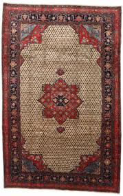 Songhor Teppich  206X322 Echter Orientalischer Handgeknüpfter Hellbraun/Schwartz (Wolle, Persien/Iran)