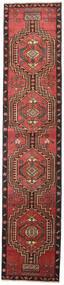 Ardebil Patina Teppich 81X385 Echter Orientalischer Handgeknüpfter Läufer Dunkelrot/Schwartz (Wolle, Persien/Iran)