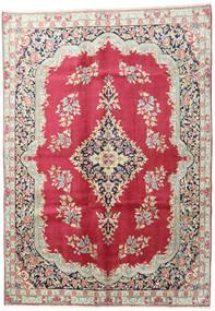 Kerman Teppich  195X275 Echter Orientalischer Handgeknüpfter Beige/Dunkelrot (Wolle, Persien/Iran)