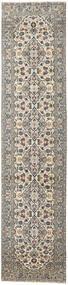 Keshan Patina Teppich  94X408 Echter Orientalischer Handgeknüpfter Läufer Hellgrau/Dunkelgrau (Wolle, Persien/Iran)