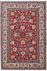 Yazd Patina Teppich 200X300 Echter Orientalischer Handgeknüpfter Hellgrau/Dunkelrot (Wolle, Persien/Iran)