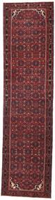 Hamadan Patina Teppich  105X410 Echter Orientalischer Handgeknüpfter Läufer Dunkelrot/Schwartz (Wolle, Persien/Iran)