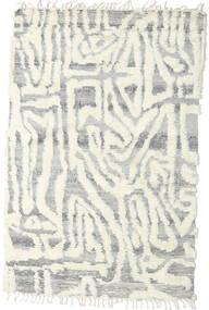 Barchi/Moroccan Berber - Indisch Teppich  153X235 Echter Moderner Handgeknüpfter Hellgrau/Weiß/Creme/Beige (Wolle, Indien)