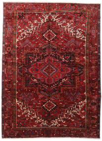 Heriz Teppich  295X403 Echter Orientalischer Handgeknüpfter Dunkelrot/Dunkelbraun Großer (Wolle, Persien/Iran)