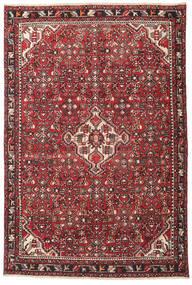 Hamadan Patina Teppich 135X202 Echter Orientalischer Handgeknüpfter Dunkelbraun/Rot (Wolle, Persien/Iran)