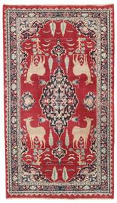 Maschad Patina Teppich 104X182 Echter Orientalischer Handgeknüpfter Rot/Dunkelgrau (Wolle, Persien/Iran)