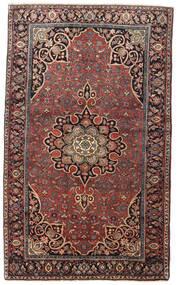 Bidjar Teppich  129X212 Echter Orientalischer Handgeknüpfter Dunkelrot/Dunkelbraun (Wolle, Persien/Iran)