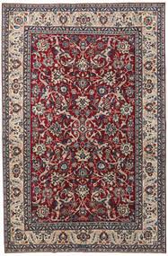 Yazd Patina Teppich 200X304 Echter Orientalischer Handgeknüpfter Dunkellila/Hellgrau (Wolle, Persien/Iran)