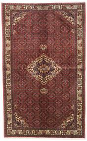 Bidjar Zanjan Teppich  139X226 Echter Orientalischer Handgeknüpfter Dunkelrot/Hellbraun (Wolle, Persien/Iran)