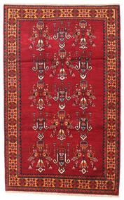Belutsch Teppich  108X170 Echter Orientalischer Handgeknüpfter Dunkelrot/Rot (Wolle, Persien/Iran)