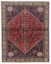Abadeh Teppich  100X128 Echter Orientalischer Handgeknüpfter Dunkelbraun/Dunkelrot (Wolle, Persien/Iran)