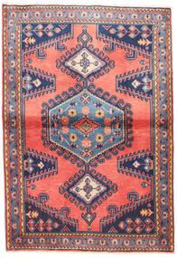 Wiss Teppich 100X145 Echter Orientalischer Handgeknüpfter Hellrosa/Dunkellila (Wolle, Persien/Iran)