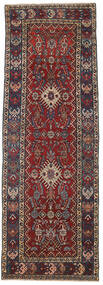 Heriz Patina Teppich 105X305 Echter Orientalischer Handgeknüpfter Läufer Dunkelrot/Dunkelgrau (Wolle, Persien/Iran)